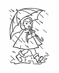 Spring Rain Coloring Pages
