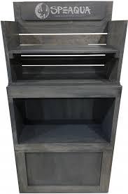 Rustic Wood Speaqua Shelf Merchandiser Best Buy Gray Floor Product Display