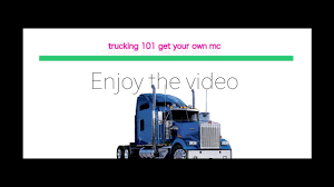 100 Mc Trucking GET YOUR OWN TRUCKING AUTHORITY MC FOR FREE YouTube