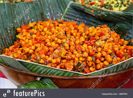 Food Vegetarian Chickpeas Meal Traditional West Africa