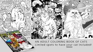 Were Illustrating Our Cat Friends And Making A Fun Adult Coloring Book