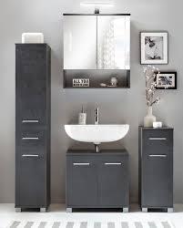 details zu bad schrank anthrazit wc schrank bad hochschrank graphit 3543