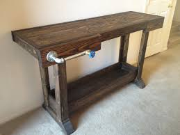 ana white workbench console table diy projects