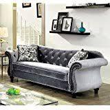 Armen Living Barrister Sofa by Amazon Com Armen Living Lc8443gray Barrister Sofa In Grey Velvet