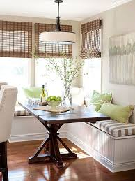 Kitchen Booth Seating Ideas by Small Space Banquette Ideas Bamboo Blinds Banquette Seating And