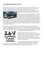 100 Diesel Performance Trucks Used Industrial
