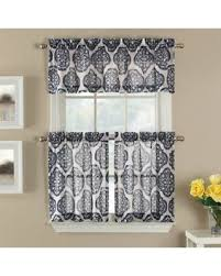 fall into savings on castil 36 semi sheer window curtain tier