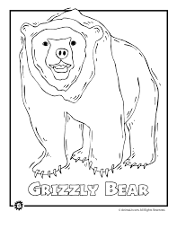 Grizzly Bear Endangered Animal Coloring Page