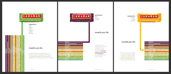 The Larabar Ad Represents Simplicity Of Brand Slogan Simplify Your Life Is Demonstrated Through Limited Amount Information On