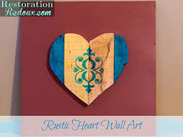 Rustic Heart Wall Art 10 Days Of Valentines