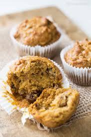 Cake Mix And Pumpkin Puree Muffins by Pumpkin Ginger Nut Muffins Recipe Simplyrecipes Com