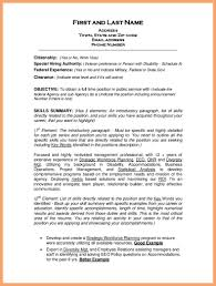 Federal Resume Template 3 Special Skills Examples Good