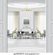 eps vektor luxus wohnzimmer innere hintergrund mit