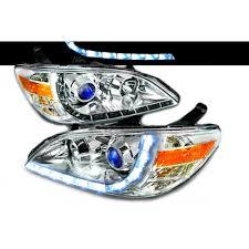 2004 2005 honda civic halo r8 style projector headlight chrome 1 pair