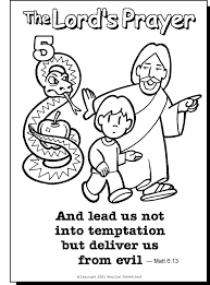 Lead Us Not Colouring Page