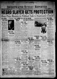 Primary View Of Object Titled Sweetwater Sunday Reporter Tex