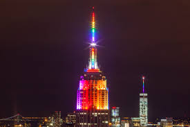 File Empire State Building in Rainbow Colors for Gay Pride 2015