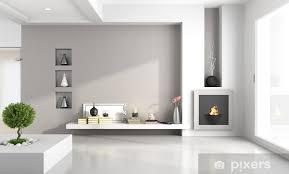 fototapete minimalist wohnzimmer mit kamin