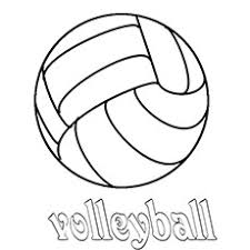 Volleyball Match Coloring Pages