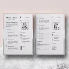 Resume Template Minimalist | Easy CV Template | Emily Smith Cv Template Professional Curriculum Vitae Minimalist Design Ms Word Cover Letter 1 2 And 3 Page Simple Resume Instant Sample Format Awesome Impressive Resume Cv Mplate With Nice Typography Simple Design Vector Free Minimalistic Clean Ps Ai On Behance Alice In Indd Ai 15 Templates Sleek Minimal 4p Ocane Creative