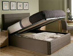 bedroom modern rectangle laminated beds with storage decor with