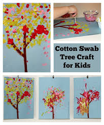 Simple Art Projects For Kids Cotton Swab Tree Craft