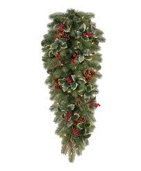Noble Fir Unlit Artificial Christmas Tree by Woodbury Classic Noble Fir Decorated Teardrop Tree Classics