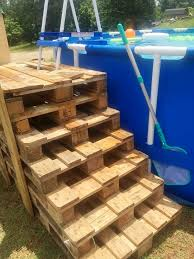 Pool Stairs Diy Pallet Steps Decks Made From Pallets 50 Ideas That Can Improve Your Home
