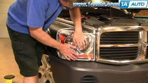 how to install replace headlight and bulb dodge durango 04 06
