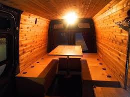 bed table and benches for camper van all in one 19 steps