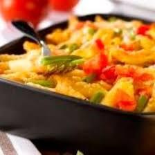 recette gratin de pâtes aux légumes et au thon