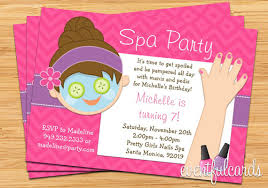 Spa Party Kids Birthday Invitation Mani Pedi By EventfulCards