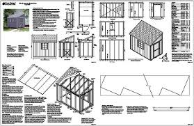 tree sheds get 6x10 lean to shed plans
