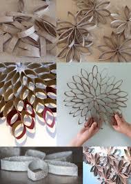 fleur en rouleaux de papier toilette crafts toilet