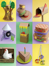 Crazy For Cardboard Crafts Inside Art And Craft Ideas Kids Using Recycled Materials