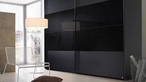schwebetürenschrank 20up kleiderschrank in schwarz matt glas