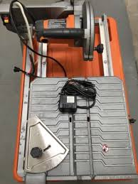 new ridgid r4030 7 job site tile saw with laser and stand what s