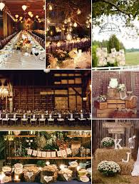 Country Rustic Wedding Ideas In Barns With Wooden Decorations
