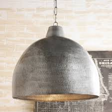 hammered steel oversized dome pendant shades of light