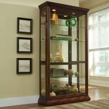 Pulaski Concave Corner Curio Cabinet by Buy Brown Curio Cabinets From Bed Bath U0026 Beyond