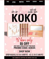 Kylie Cosmetics - $5 Off Any Koko Kollection Purchase Code ...
