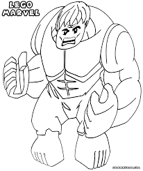 Lego Marvel Superheroes Coloring Pages To Download And Print Picture