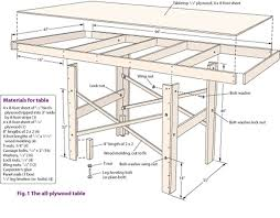 model train table plans assembly instructions materials and tools