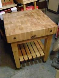 Used Butcher Block Table