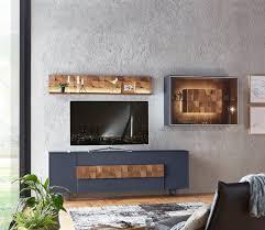 wohnzimmer set liv blau material materialmix holz glas leonardo