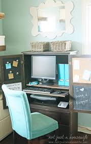 Ikea Secretary Desk With Hutch by Armoire Turned Computer Cabinet Stacy Risenmay