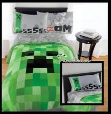 Minecraft Twin Bedding by Minecraft Comforter Set Creeper Full Size U0026 Full Size Sheet Set