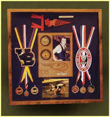 School Varsity Sports And Academics Shadow Box Display Case