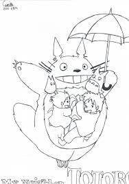 Mon Voisin Totoro Coloriage Adult Coloring Pages Coloring Pages