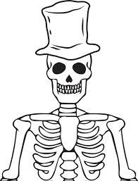 FREE Printable Halloween Skeleton Coloring Page For Kids